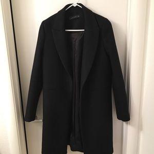 Zara menswear inspired wool coat (black)